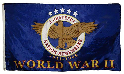 MWS 3x5 American World War 2 WWII WW2 Memorial Veteran Flag 3'x5' Banner Grommets
