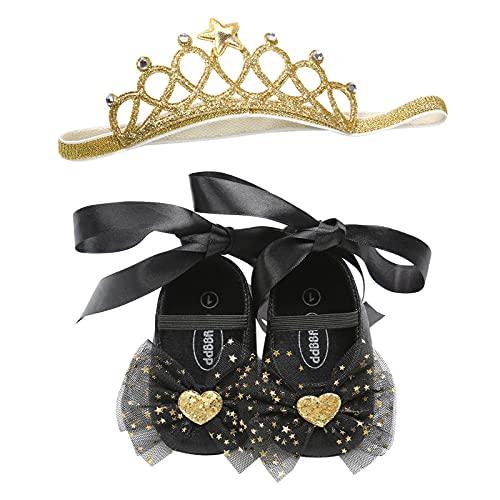 YWLINK Bebé Niña Zapato de Princesa con Cinta Mágica para 6-18 Meses Niños...