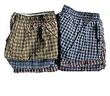 Cotton Plus Men's Premium Boxer Shorts Underwear | Boxers for Men 6 Pack of Assorted Plaids Multi Colors (Small)