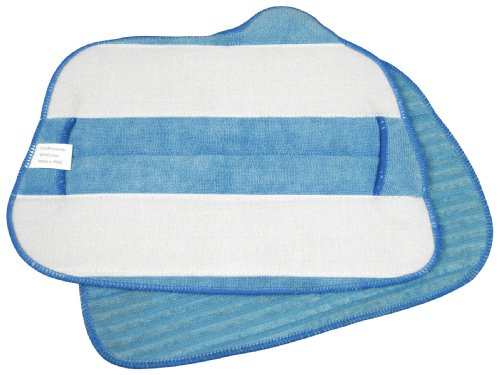 Steamfast Replacement Microfiber Cloths for Steam Mop, 2-Pads Per Pack