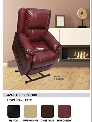"""Pride Home Decor Collection Lift Chair Recliner, NM-455-3 Position, Best for 5'4"""" - 6'0"""" in Height: Wide 20 inch Seat. (Burgundy)"""