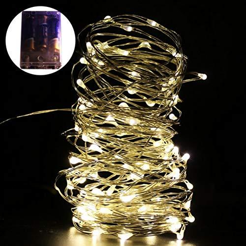 QPOWY Batteriebetriebene LED Sternenlichterketten Kupferdraht Fairy Micro LEDs 2m für Party Weihnachtshochzeit NKD Neuankömmling