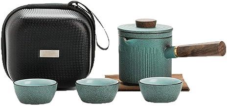 FACAIA Bluestone emaliowany quik kubek herbata zestaw torba podróżna niepodzielone przenośne zewnętrzne kubki do garnków (...
