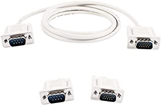 Yohii 1.35M/4.4ft DB9 9 Pin Male to VGA Video 15 Pin Male Serial Port Cable RS232 Light Gray