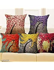 BADOTI Knitting Printed Throw Pillow/Cushion Covers (Multicolour, 16 x 16 inch) Set of 5