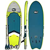 "ISLE Surf & SUP Megalodon | 12' Inflatable Stand Up Paddle Board | 8"" Thick iSUP and Bundle..."