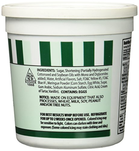 CK Products Buttercream Icing Cake Topper, 15 oz, Green