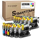 S SMARTOMNI Compatible LC203 LC201 Ink Cartridge Replacement for Brother LC203 XL LC201 XL for MFC-J460DW J480DW J485DW J680DW J880DW J885DW J4320DW J4420DW J4620DW J5620DW J5520DW J5720DW (12 Pack)