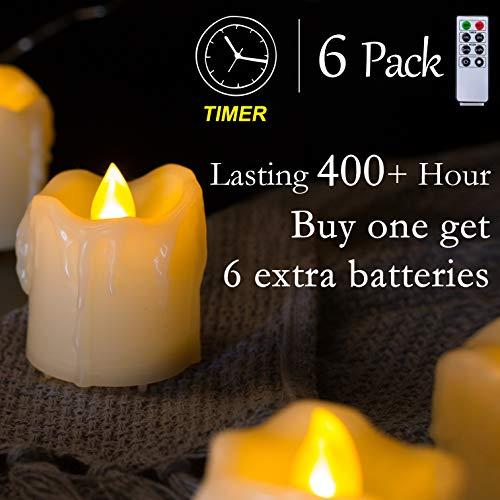 led votive candles timer - 4