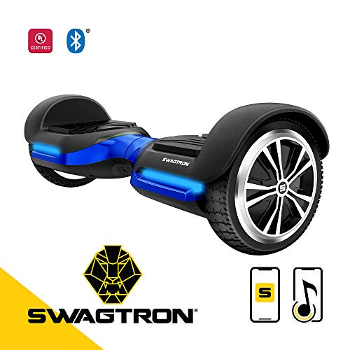 Swagtron Swagboard Vibe T580 App-Enabled Bluetooth Hoverboard with Speaker Smart Self-Balancing Wheel