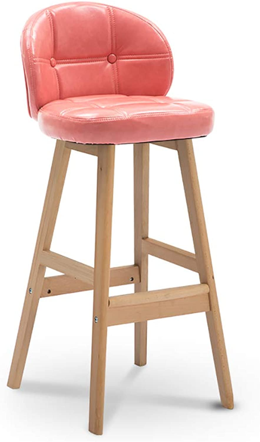 Chair White Simple Bar Stool Chair,High Stool,Dining Chair (68cm) Reception Chairs (color   D)
