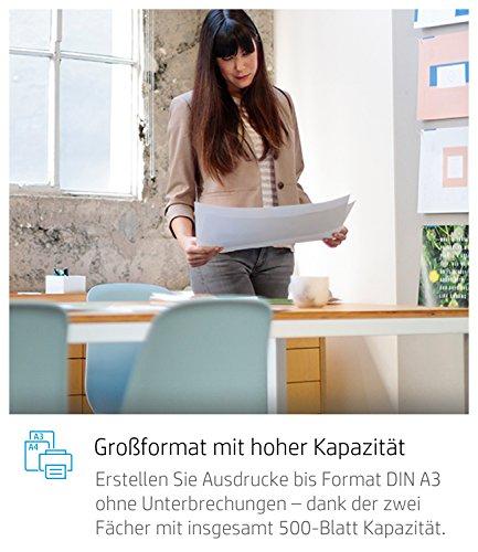 HP OfficeJet Pro 7740 A3-Multifunktionsdrucker (DIN A3, Drucker, Scanner, Kopierer, Fax, WLAN, Duplex, HP ePrint, Apple Airprint, USB, 4800 x 1200 dpi) weiß