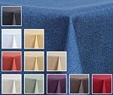 Maltex24 Textil Tischdecke – Leinen Optik – wasserabweisend Eckig (Blau, ca. 135×180 cm) - 3
