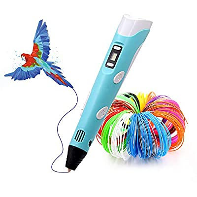 3D Pen,Lihuachen 3D Printing Pen with 265 Feet 27 Colors PLA Filament Refills,Compatible PLA & ABS,Creative Toy,Perfect Arts Crafts Gift for Kids & Adults