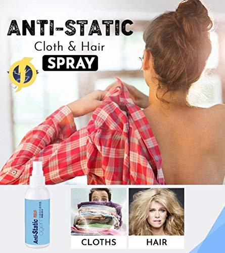 Alecony Antistatik Spray für Kleidung Textilien Auto, Möbel Geeignet,Static Guard,Anti Static Spray,Natürlich Antistatikmittel,Gegen statische Aufladung,Geruchs-neutral Flüssigkeitszufuhr(80ml)