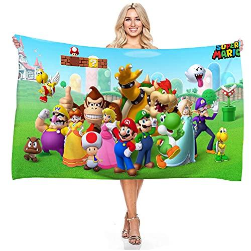 LIYIMING Super Mario Toalla de playa de microfibra, esterillas de picnic, anime, personaje de niña, 75 cm x 150 cm (10)