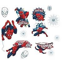 飛び出すスパイダーマン Spider-Man 身長測定 身長計 簡単に貼って剥がせる ウォールステッカー 壁紙シール (40*60*2枚)