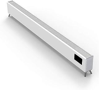 Radiador eléctrico Calentador de zócalo doméstico Calentamiento rápido con Control Remoto 24H Temporizador 2000W, Blanco