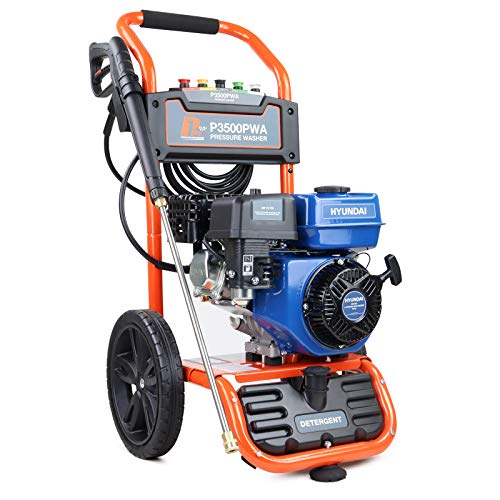 P1 Powerful Petrol Pressure Washer, 2990 PSI, IC210 7HP 212cc 4 Stroke, Pressure Washer, 2 Year Warranty, Petrol Jet Washer, 4X Quick Release Nozzles, High Pressure Washer, Detergent Tank, DIY & Tools