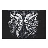 CCMugshop Divertido puzzle vikingo Odin pirata con calavera, fantasma vikingo, 500/1000 piezas, juego de juguetes blancos, 300 piezas