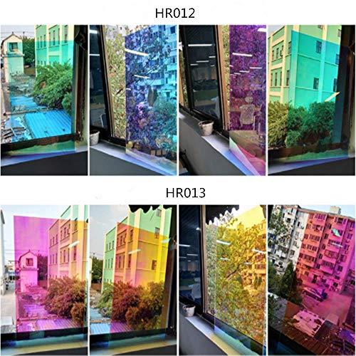 Yamybox Rainbow Window Film dichroic Color Dichromatic Rainbow Color Vinyl Film Decorative Film DIY Sticker 50cmx300cm,HR012