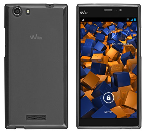 mumbi Hülle kompatibel mit Wiko Ridge 4G Handy Hülle Handyhülle, transparent schwarz