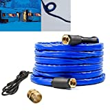 H&G lifestyles 25ft Heated Water Hose for Rv 1/2' Inner Diameter Withstand Down to -40°F Blue