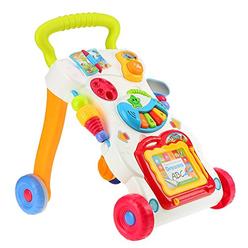 Yatri Creation My First Step Baby Sit to Stand Activity Walker White - Toddler Learning Toys for Kids
