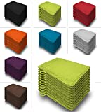 one-home 10er Set Waschhandschuhe Waschhandschuh Waschlappen 16x21 cm Frottee Baumwolle, Farbe:Grün