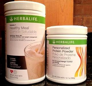 Herbalife Formula1 Nutritional Shake + Personalized Protein Powder (Cookies `n Cream)