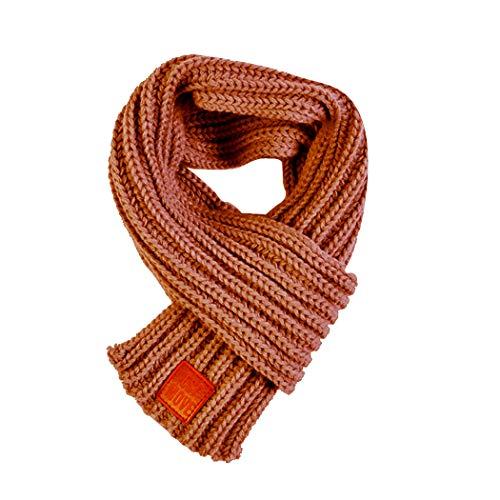 Ranvi Kinderschal, warm im Herbst und Winter, handgestrickter Flaum, Khaki