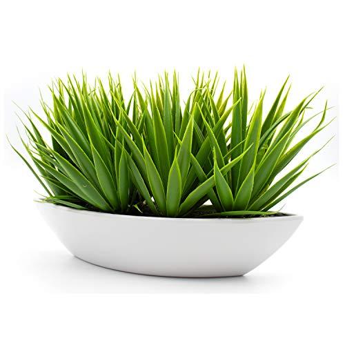 KELZIA Planta Artificial Decorativa -1 Maceta con Decoraciones de Plantas Falsas-Escritorio de Oficina, Mesa, Ventanas, Repisas, Chimenea, Estanteria-Regalo de Decoración (Natural)