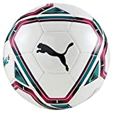 PUMA teamFINAL 21.6 MS Ball Balón de Fútbol, Unisex-Adult, White-Rose Red-Ocean Depths Black, 5