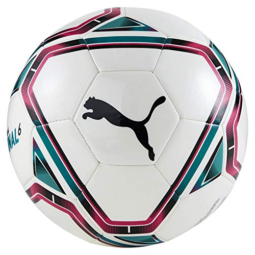 PUMA teamFINAL 21.6 MS Ball Balón de Fútbol, Unisex-Adult, White-Rose Red-Ocean Depths Black, 3