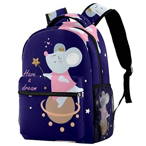 Sac à dos Magic Mouse pour école, voyage, décontracté, pour femmes, adolescents, garçons