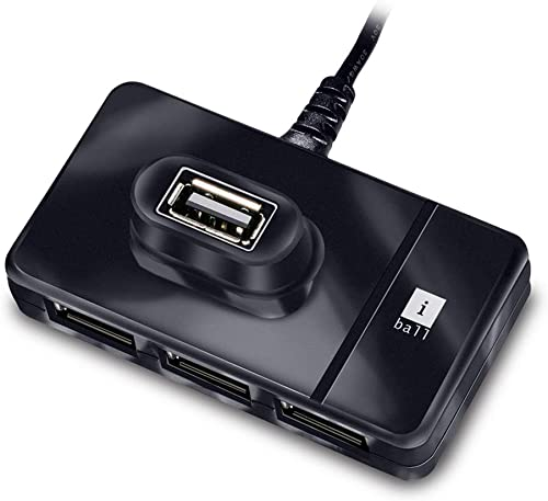 iBall Piano 423 4 Port USB Hub (Black)
