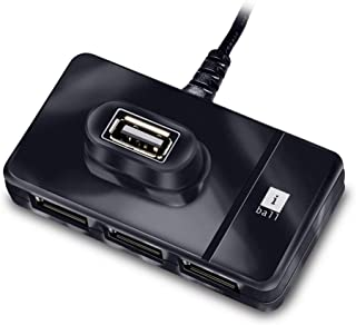 iBall Piano 423 4 Port USB Hub (Black)