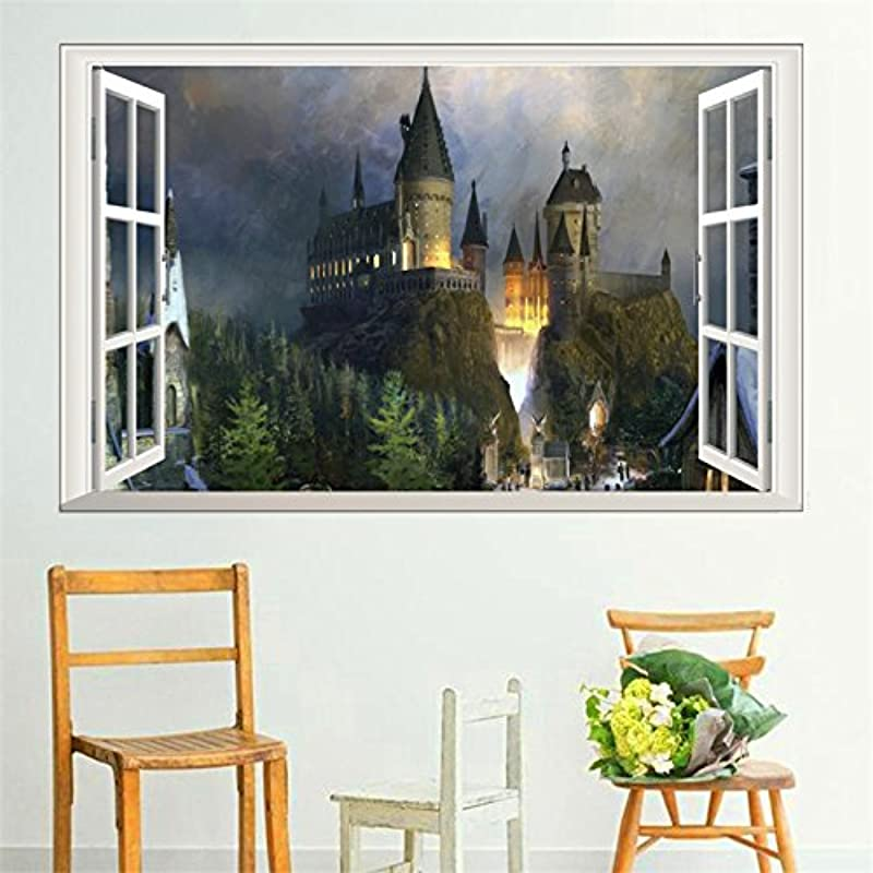 Harry Potter Window Wall Stickers For Kids Rooms Home Decoration Hogwarts School Wall Decals Poster Mural Art