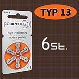 6 Stück Batterie PowerOne Typ p 13...