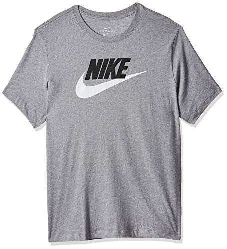 Nike Herren Sportswear T-Shirt, Dark Grey Heather/Black/White, S