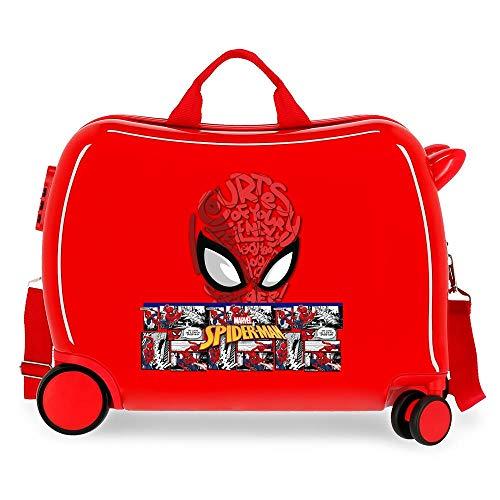 Marvel Spiderman Comic Maleta Infantil Rojo 50x38x20 cms Rígida 0 Cierre de combinación Lateral 38L 3 kgs 4 Equipaje de Mano
