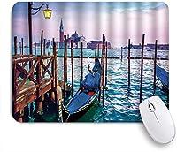 Yaoni ゲーミング マウスパッド,ユニークなヴェネツィアの夢のような夜の有名なイタリアの都市建築水とゴンドラ,マウスパッド レーザー&光学マウス対応 マウスパッド おしゃれ ゲームおよびオフィス用 滑り止め 防水 PC ラップトップ