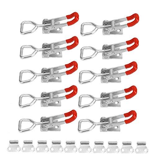 linjunddd Bridas De Amarre De Liberación Rápida Fast Fix Toggle Latch Abrazaderas para Trabajar La Madera 10pcs Herramienta Conveniente