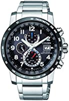 CITIZEN Mens Solar Powered Watch, Analog Display and Stainless Steel Strap AT8124-83E