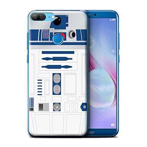 Stuff4 Coque pour Huawei Honor 9 Lite Astromech Droïde Unité R2 Bleue Désign Transparent Etui Housse Case Rigide Ultra Mince