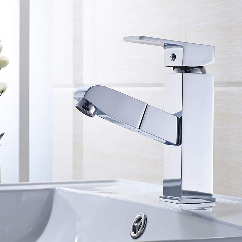 KANGYANLONG Bathroom Pull Faucet Bathroom Washbasin Faucet Bathroom Washbasin Faucet