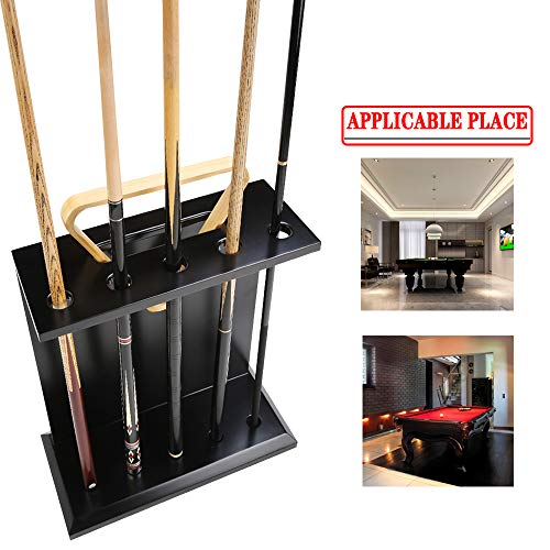 AILILI Queueständer - Pool Snooker Queue Rack,schwarz Billard Queue Stand,für Homeschool-Club Pool Queue Rack,hält Bis 5 Billiard Cue,Billard Stick Ständer 600 X 500 X 200 Mm