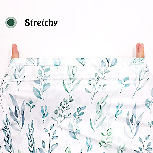 DILIMI Baby Car Seat Cover Green Leaf, Breastfeeding Cover Soft Breathable Infant Carseat Canopy Multifunctional Cover for Stroller/High Chair/Shopping Cart/Car Seat Canopies