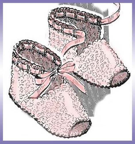 Open-Toed Baby Booties Shoes Slippers Vintage Crochet Pattern EBook Download (Needlecrafts) (English Edition)