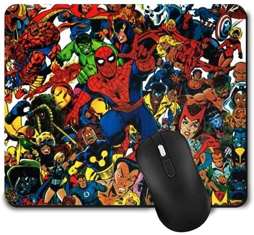 Tapis de souris Hulk - Avec design - Dessous en caoutchouc antidérapant - 20 x 24 cm - Spiderman